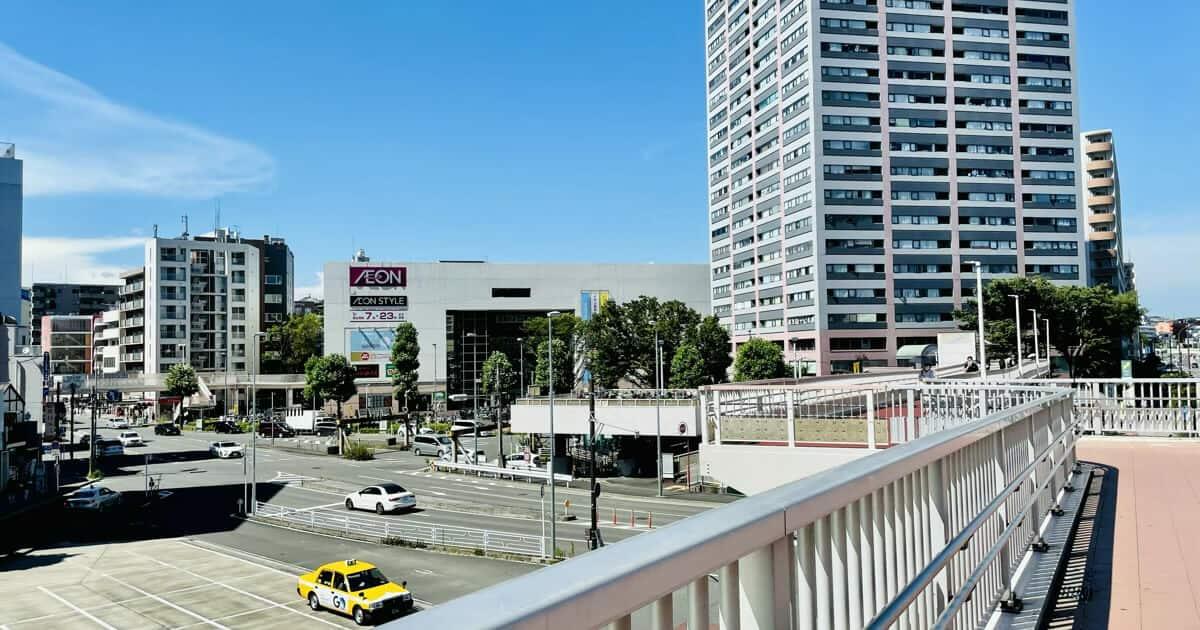 東神奈川駅からみたイオンスタイル東神奈川