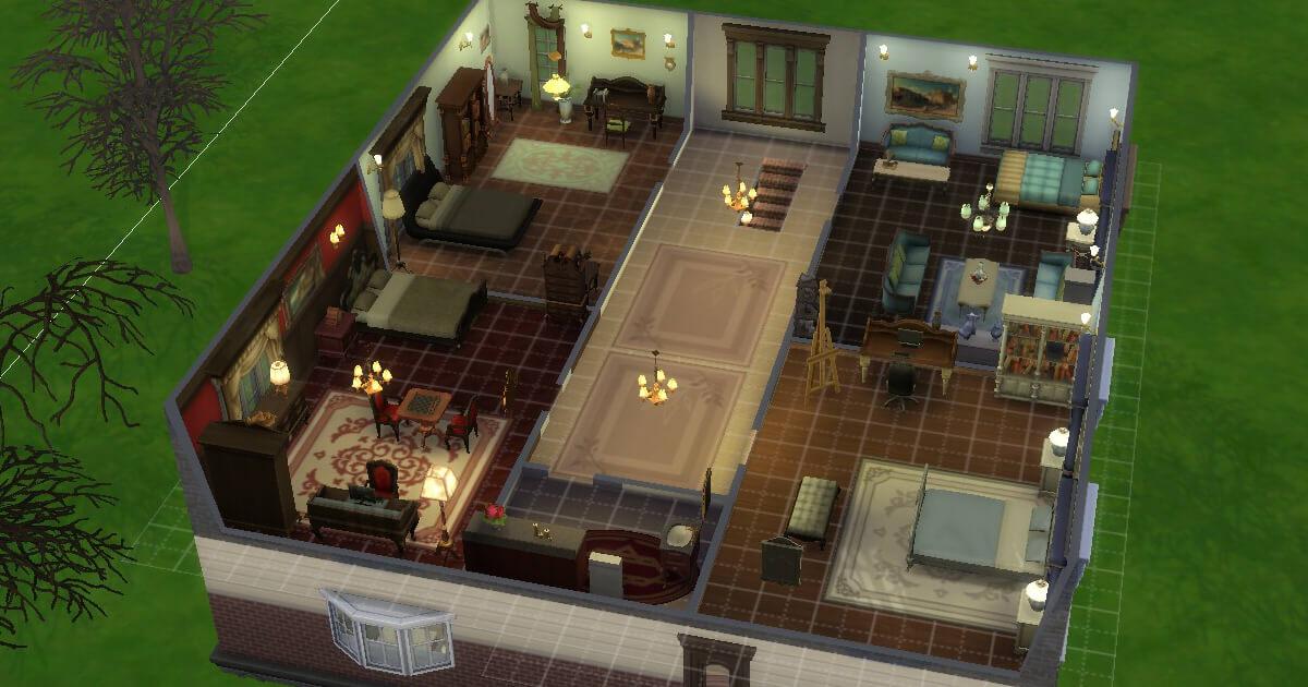 sims4の建築した家の2階