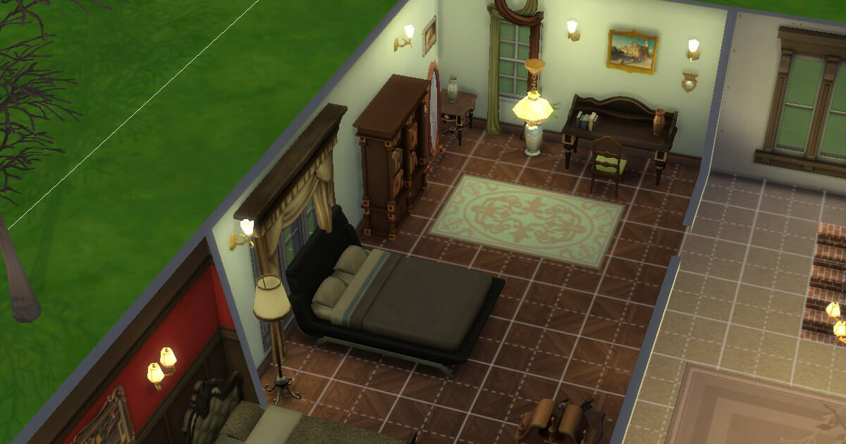 sims4の三浦家の夏樹の部屋