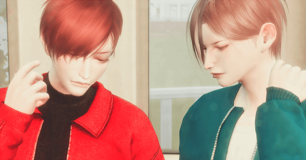 sims4で作成したイケメン双子