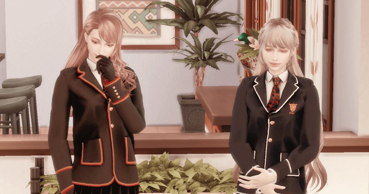 sims4で作成した美人姉妹