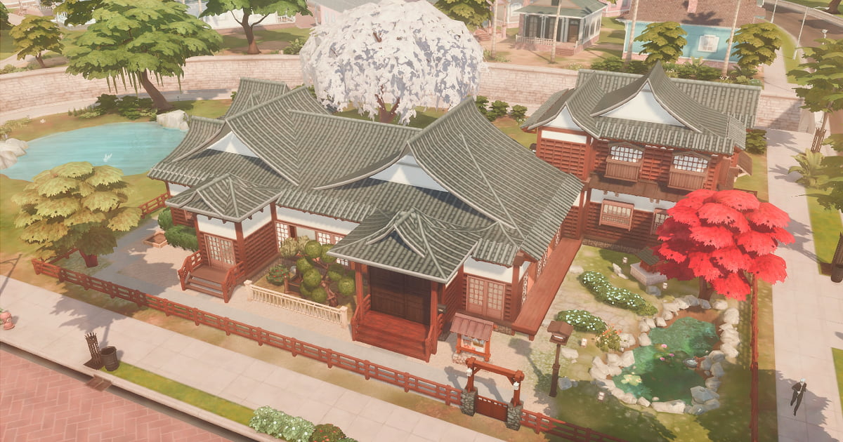 sims4の和風建築と屋敷