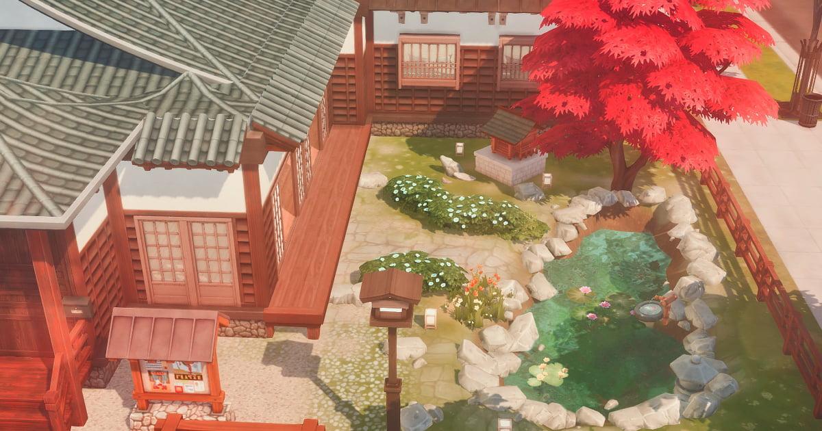 sims4で作成した日本庭園