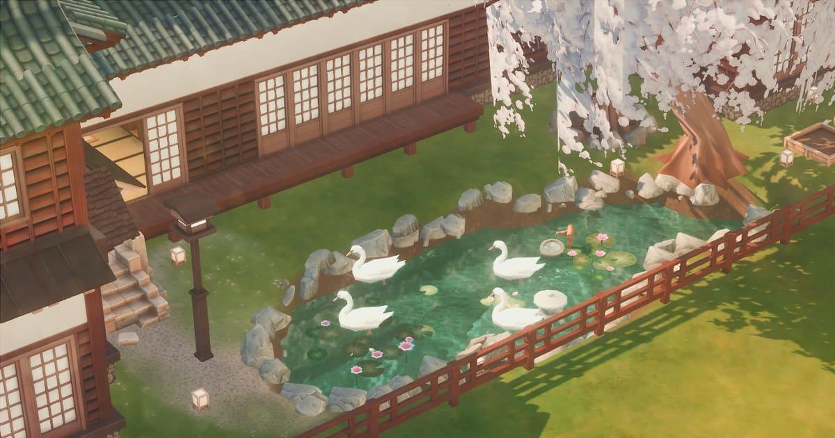 sims4で作成した庭