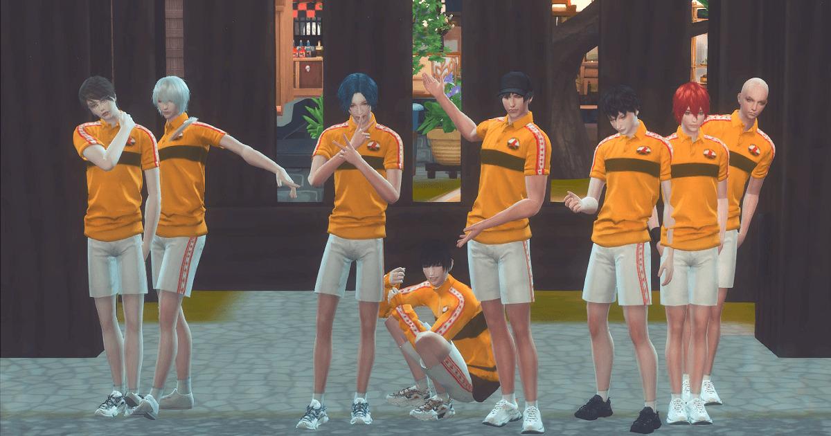 sims4で作成したテニスの王子様の立海全員