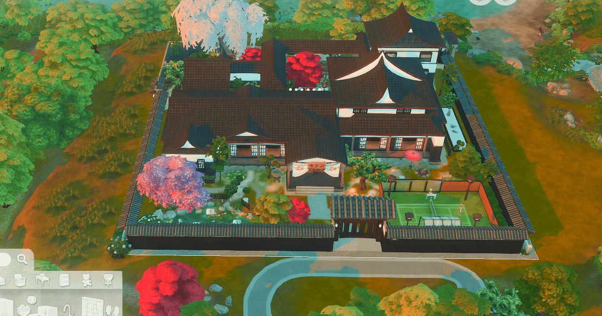 sims4で建築した日本家屋の豪邸