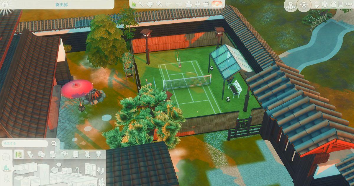 sims4で作成したテニスコート