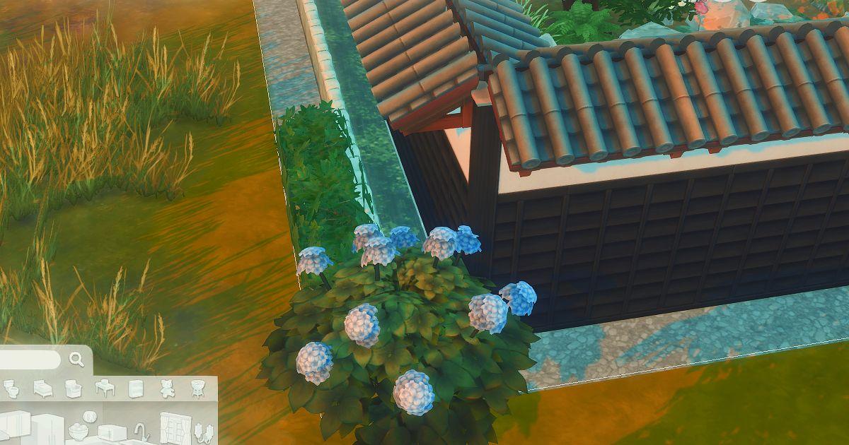 sims4で建築した日本家屋の用水路
