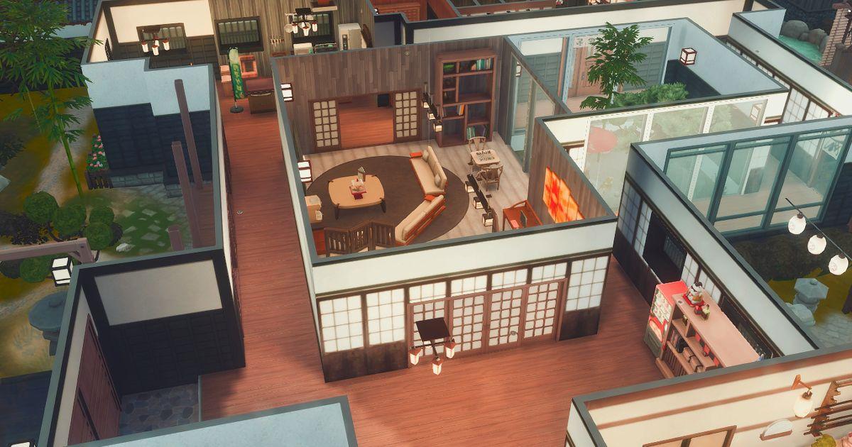 sims4の和風建築の廊下