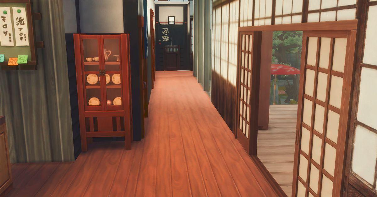 真田邸のキッチン廊下