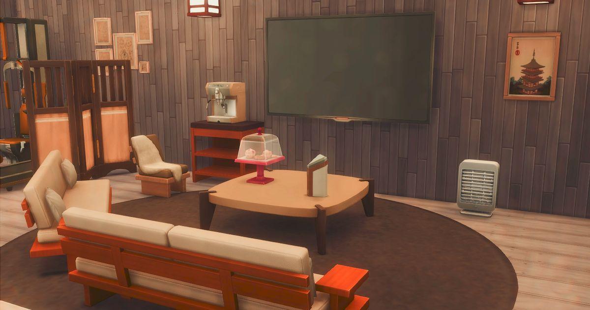 真田邸のリビングのテレビ