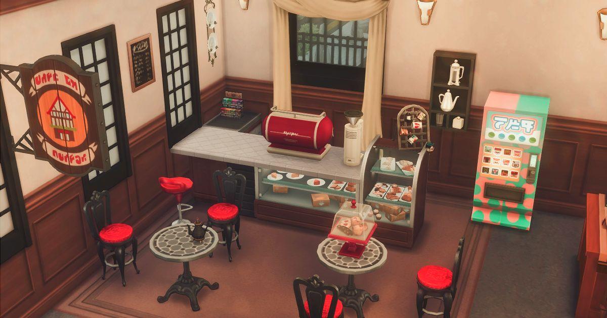 真田邸のカフェスペース