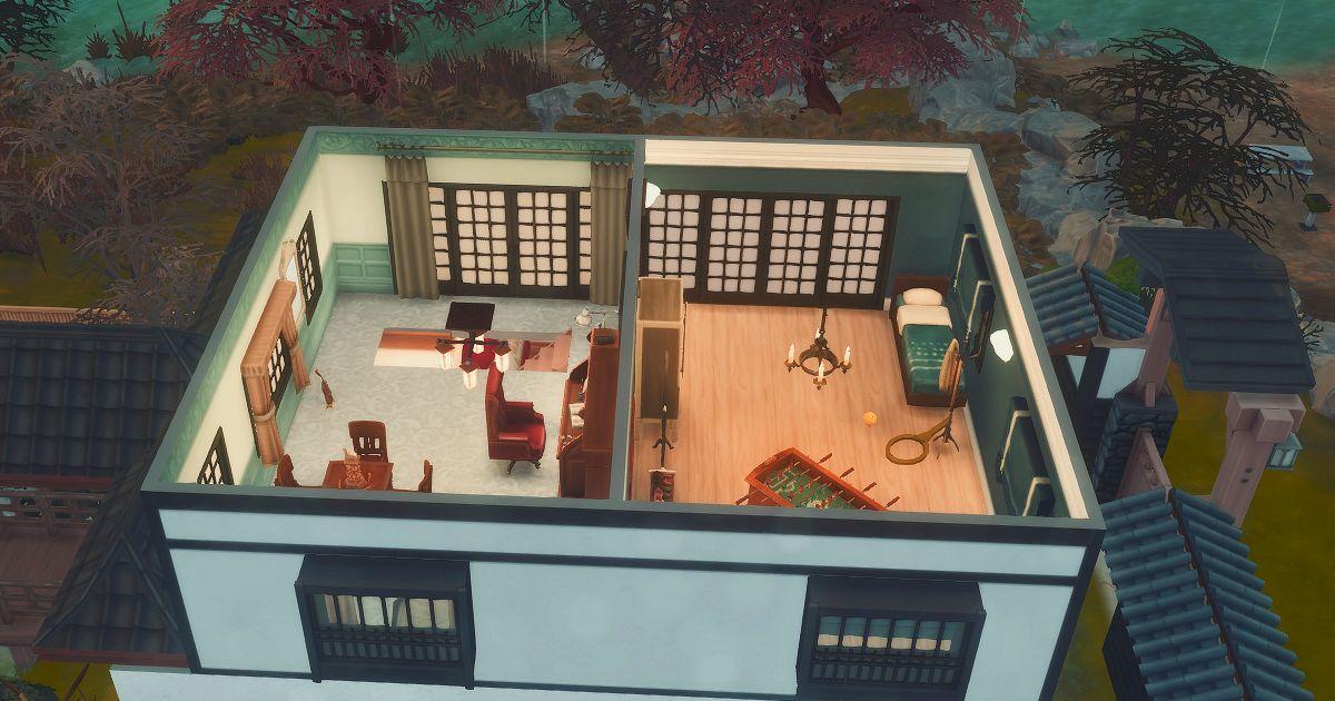 真田邸別邸の2階内装全体