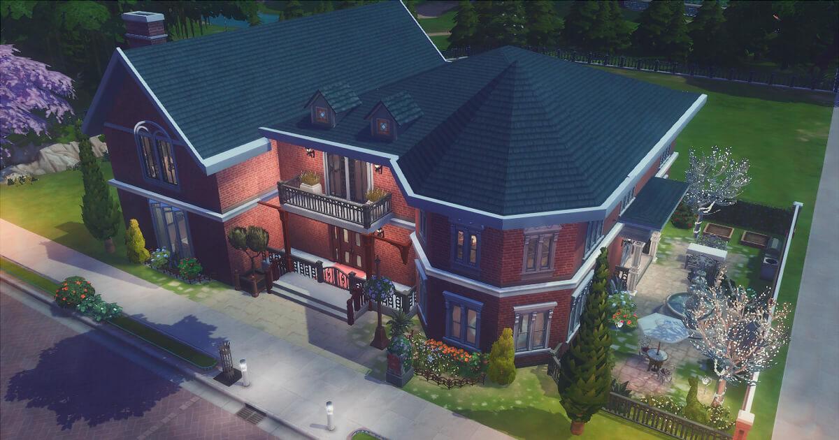 sims4で作成した豪邸の東雲家