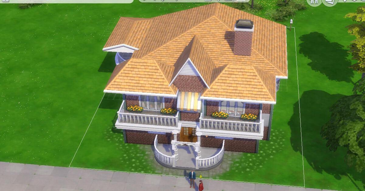 sims4で建築した八神家