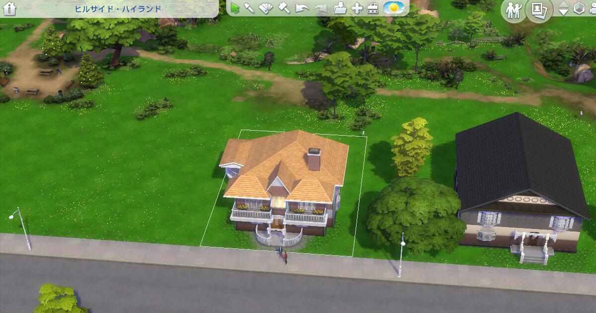 sims4で建築した三浦家と八神家の比較